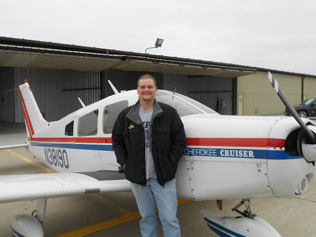 Just after my first flight!